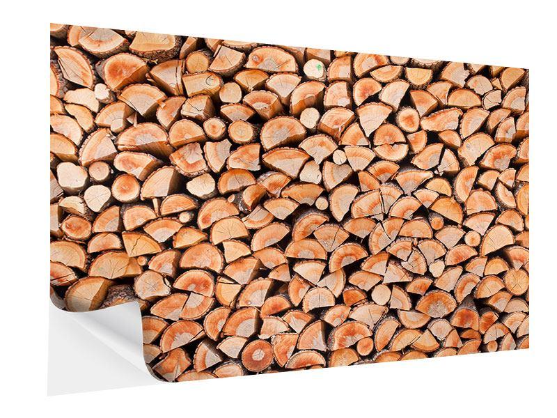 Klebeposter Birkenstapel