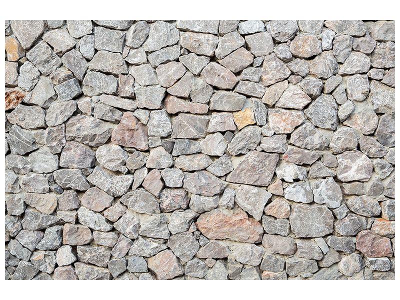 Klebeposter Grunge-Stil Mauer