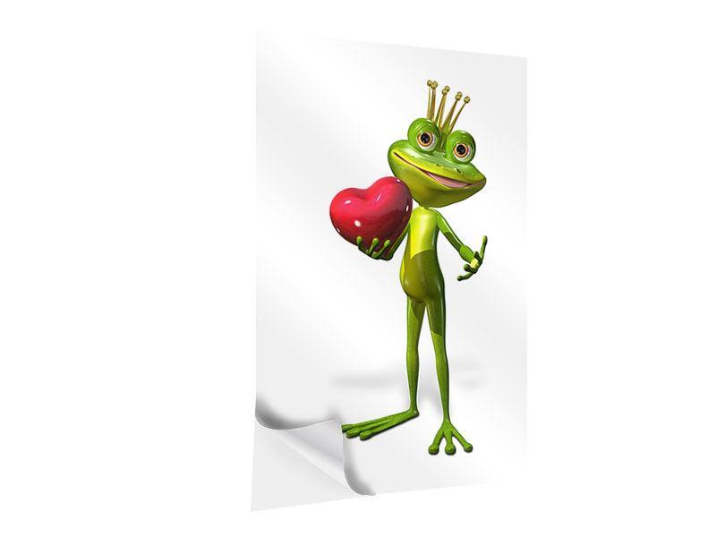 Klebeposter Froschkönig
