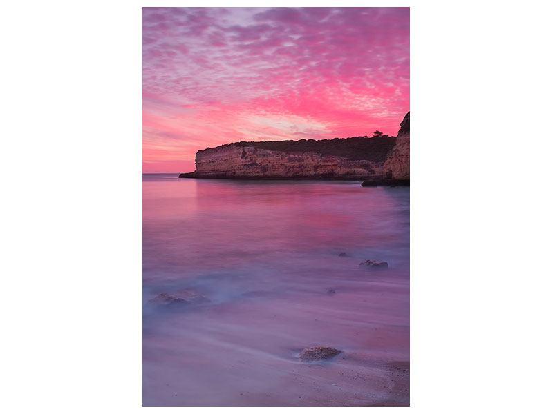 Klebeposter Feuriger Sonnenuntergang am Meer