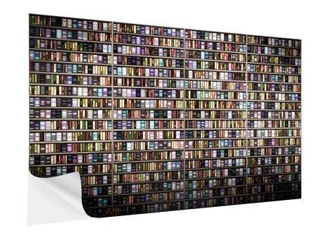 Klebeposter Bücherregal
