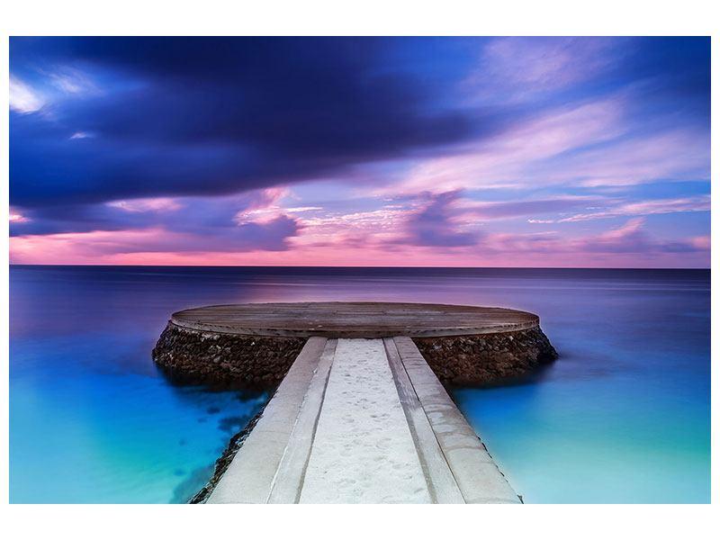 Klebeposter Meditation am Meer