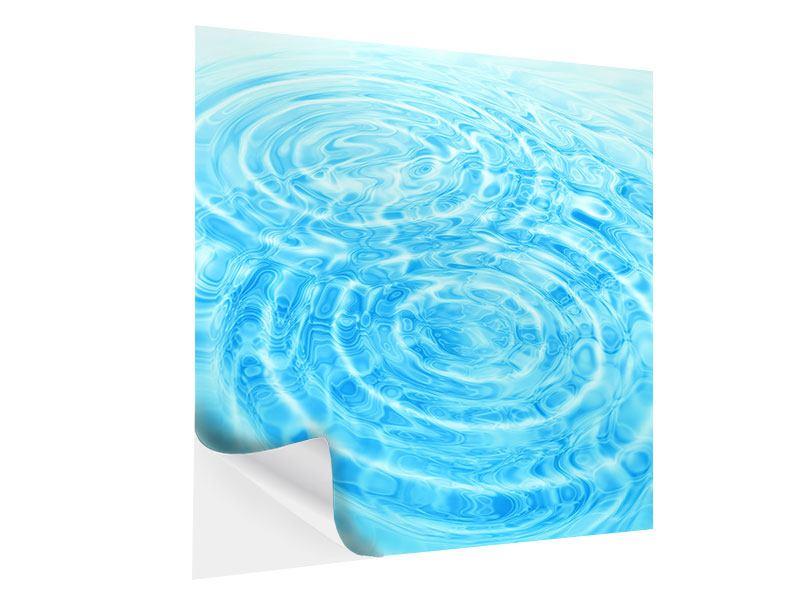 Klebeposter Abstraktes Wasserbad