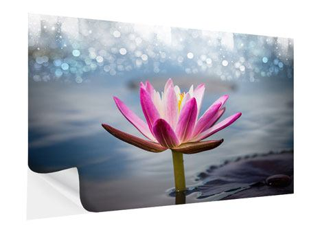 Self-Adhesive Poster Lotus In The Morning Dew