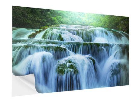 Klebeposter Gigantischer Wasserfall