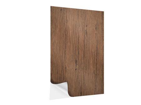 Klebeposter Teak-Holz