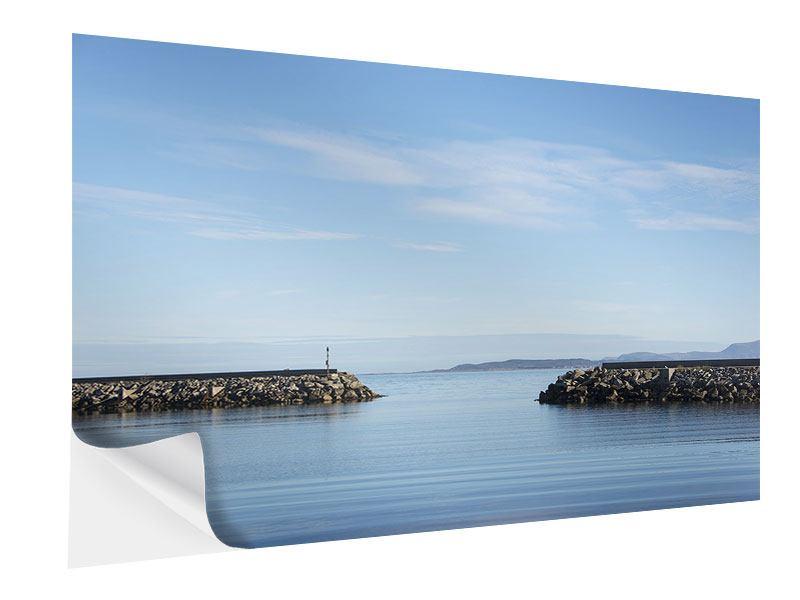 Klebeposter Hafenmauern