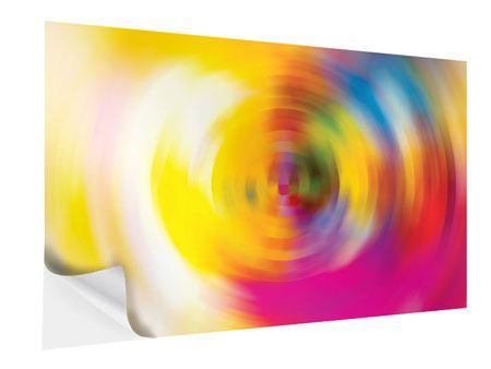 Klebeposter Abstrakte Farbkreise