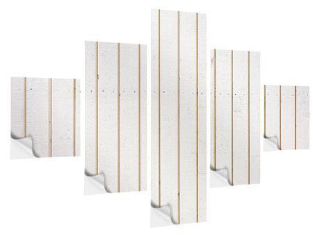 Klebeposter 5-teilig Mediterranes Holz
