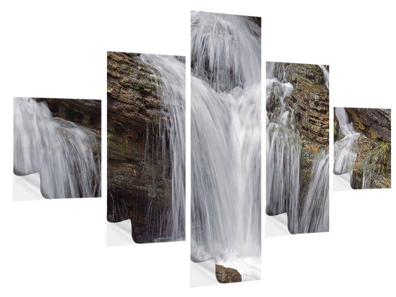 Klebeposter 5-teilig Wasserfall XXL