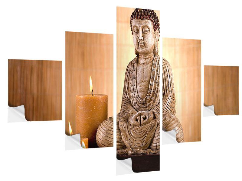 Klebeposter 5-teilig Buddha in der Meditation