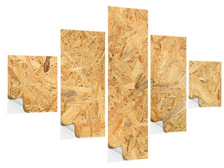 Klebeposter 5-teilig Gepresstes Holz