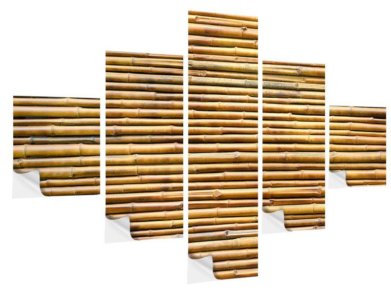 Klebeposter 5-teilig Bambus