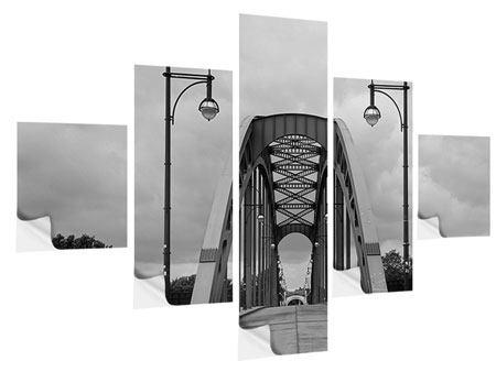 Klebeposter 5-teilig Poetische Brücke