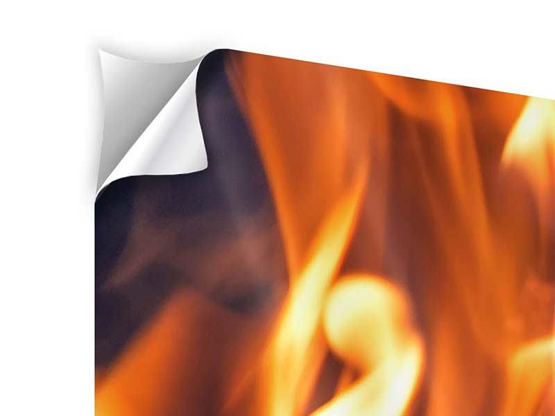 Klebeposter 5-teilig Lagerfeuer