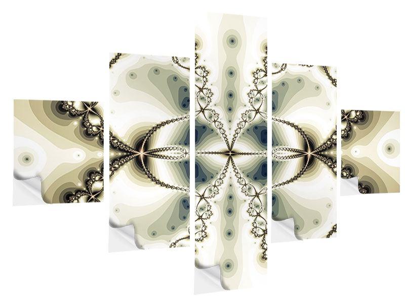 Klebeposter 5-teilig Abstrakter Schmetterling