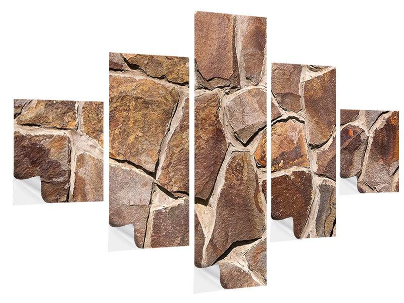 Klebeposter 5-teilig Designmauer