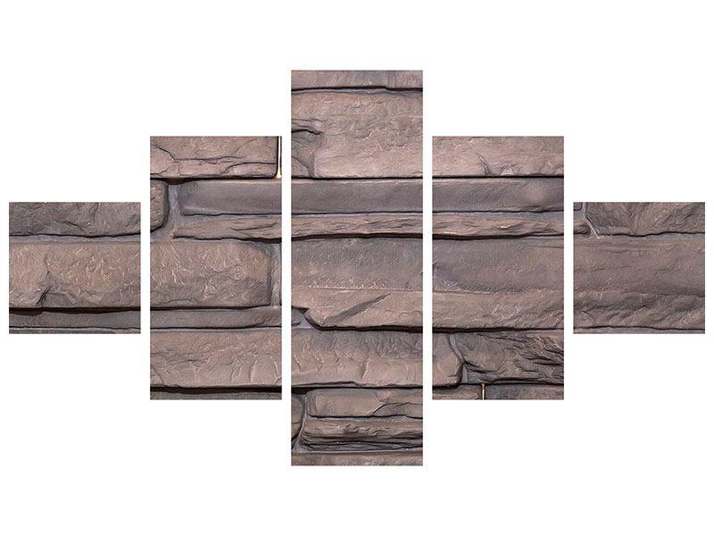Klebeposter 5-teilig Luxusmauer