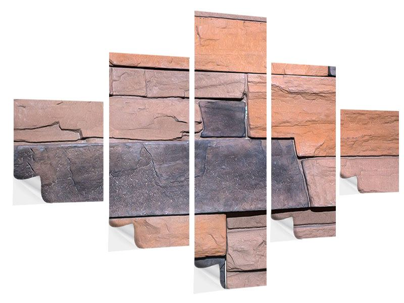 Klebeposter 5-teilig Wall