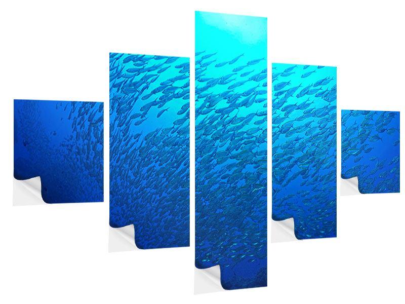Klebeposter 5-teilig Fischwelt