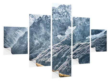 Klebeposter 5-teilig Gigantische Berggipfel