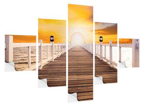 Klebeposter 5-teilig Die Brücke Ins Glück