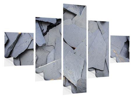 Klebeposter 5-teilig Schieferplatten