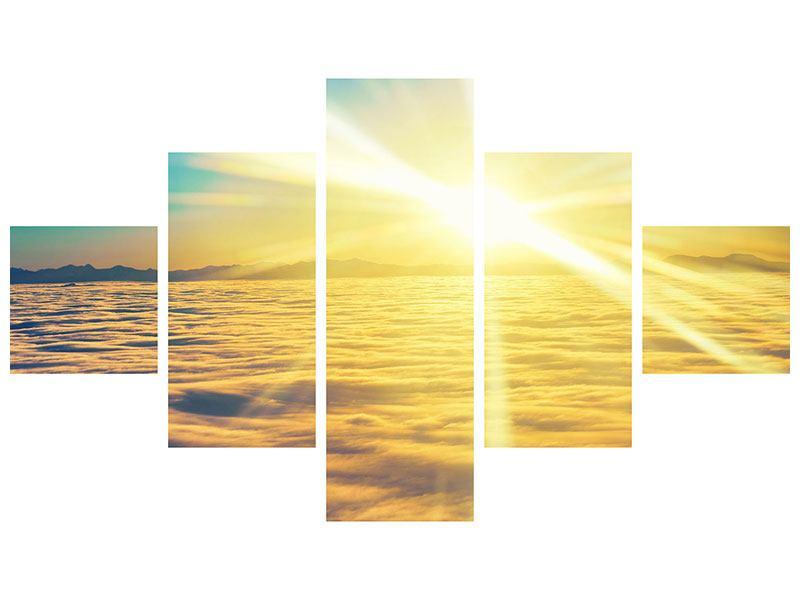 Klebeposter 5-teilig Sonnenuntergang über den Wolken