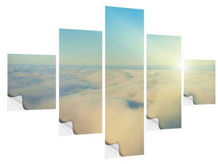 Klebeposter 5-teilig Dämmerung über den Wolken