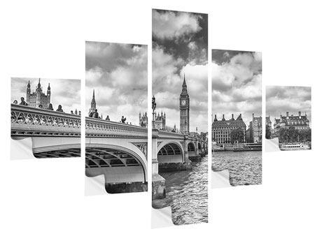 Klebeposter 5-teilig Westminster Bridge