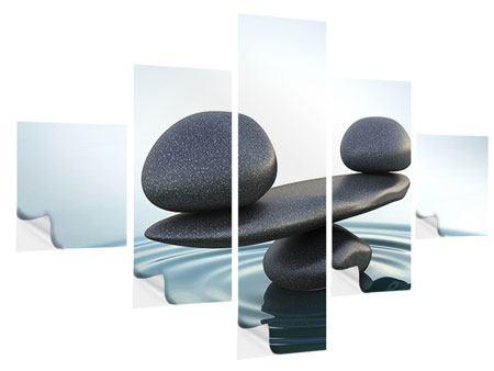 Klebeposter 5-teilig Steinbalance