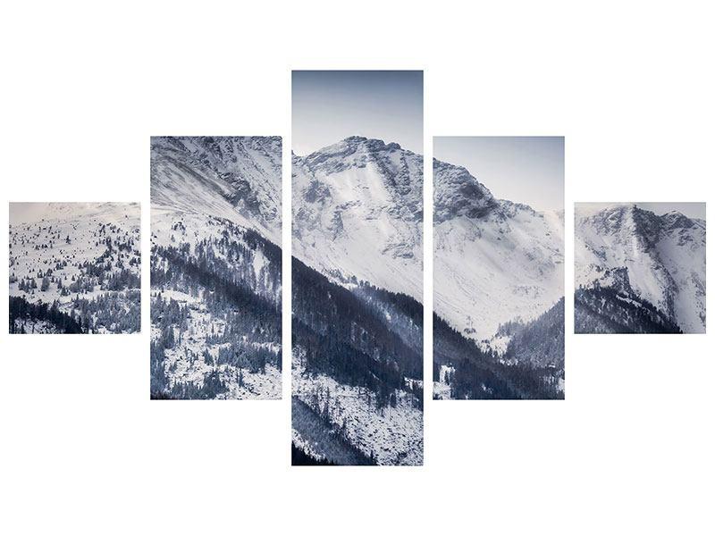 Klebeposter 5-teilig Die Berge der Schweiz