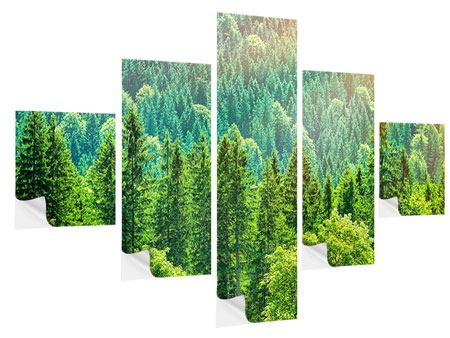 Klebeposter 5-teilig Der Waldhügel