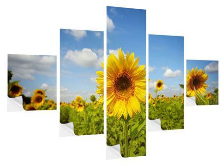 Klebeposter 5-teilig Sommer-Sonnenblumen