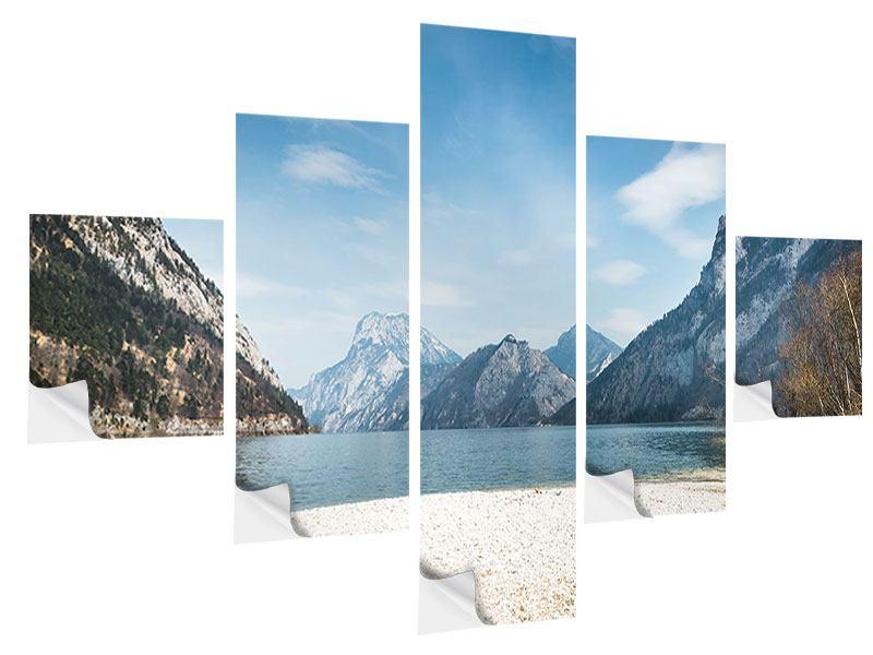 Klebeposter 5-teilig Der idyllische Bergsee