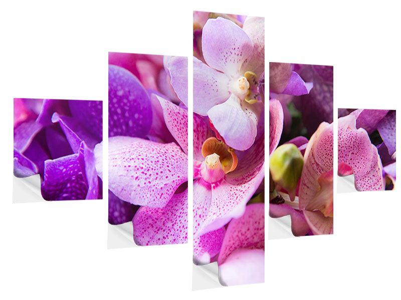 Klebeposter 5-teilig Im Orchideenparadies