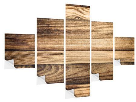 Klebeposter 5-teilig Holztrend