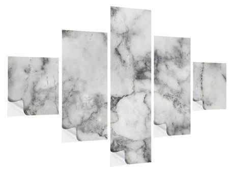 Klebeposter 5-teilig Klassischer Marmor
