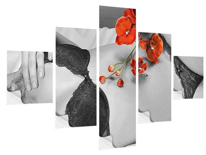 Klebeposter 5-teilig Dessous-Schönheit