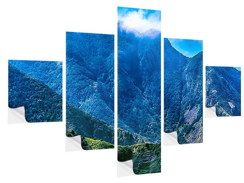 Klebeposter 5-teilig Die Berglandschaft