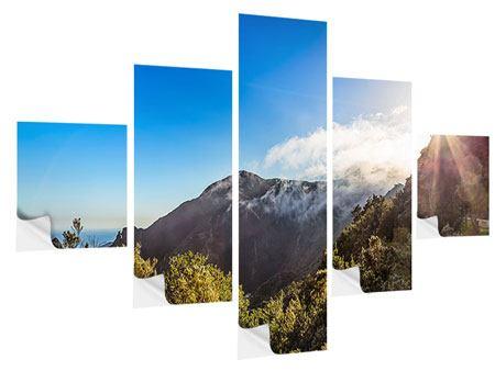 Klebeposter 5-teilig Berge am Meer