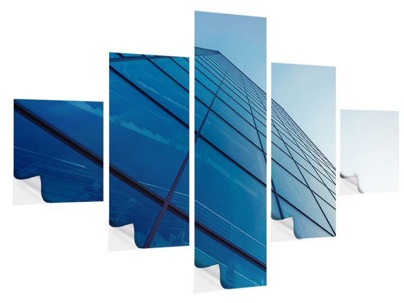 Klebeposter 5-teilig Wolkenkratzer-Highlight