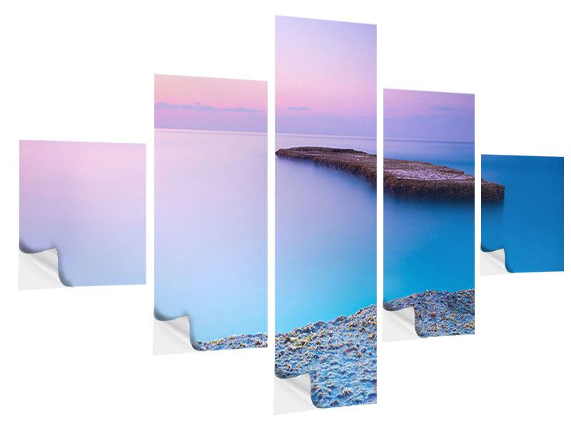 5 Piece Self-Adhesive Poster Infinite Ocean