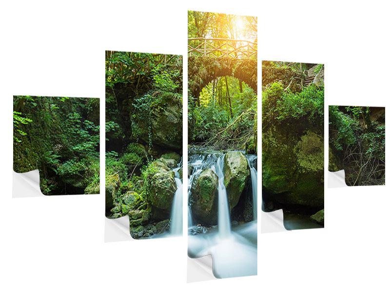 Klebeposter 5-teilig Wasserspiegelungen