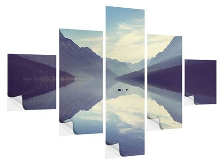Klebeposter 5-teilig Bergspiegelung