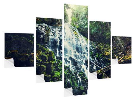 Klebeposter 5-teilig Feng Shui & Wasserfall