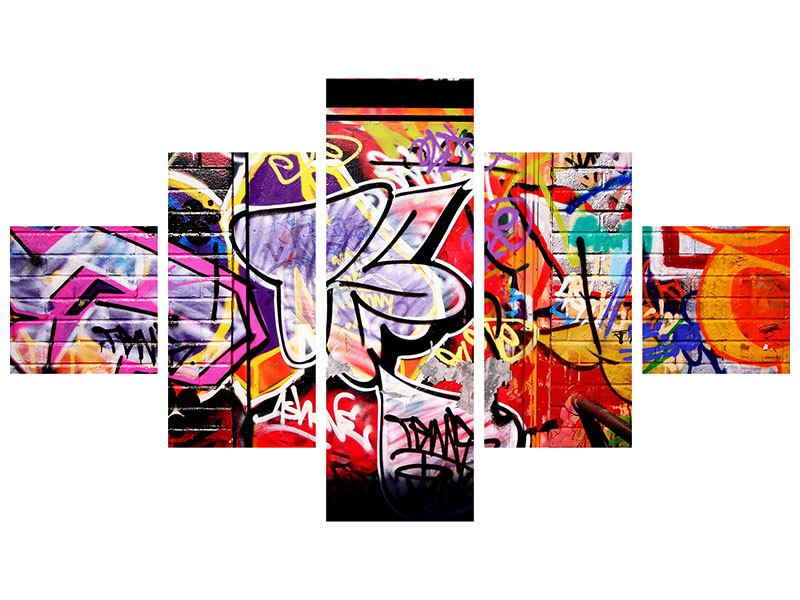 Klebeposter 5-teilig Graffiti Kunst