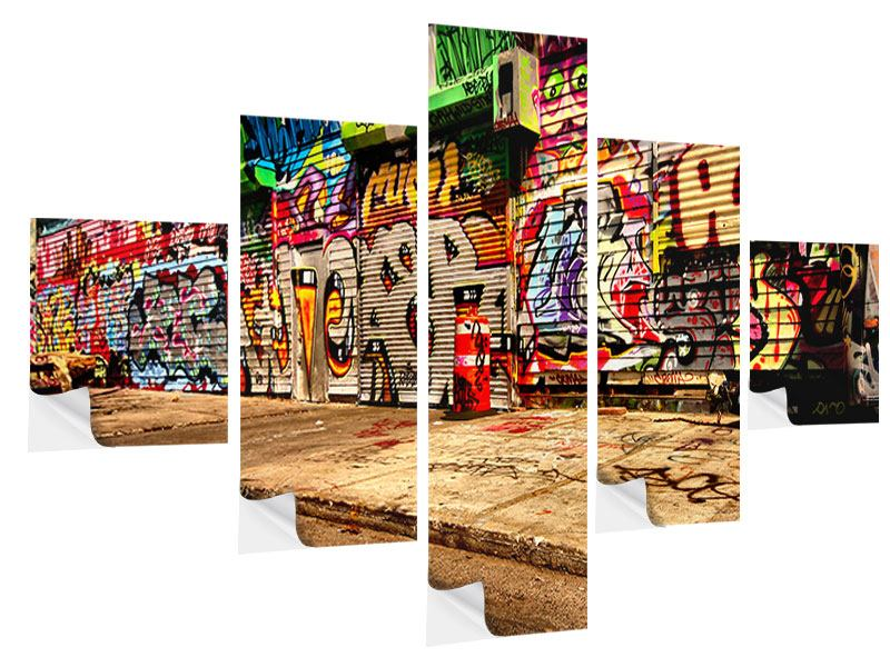 Klebeposter 5-teilig NY Graffiti