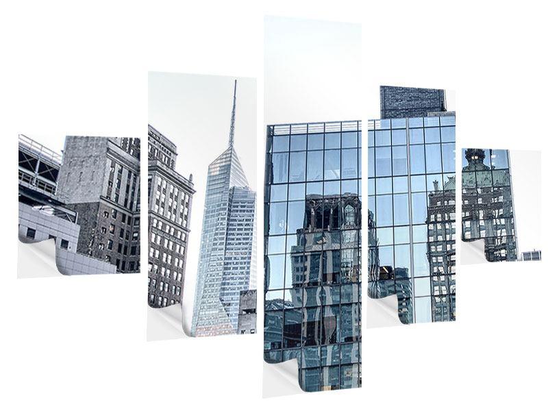 Klebeposter 5-teilig Wolkenkratzer NYC