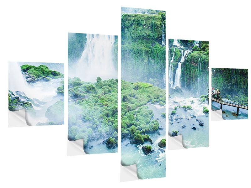 Klebeposter 5-teilig Wasserfälle